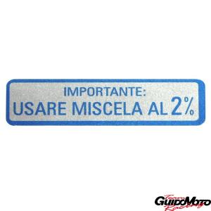 Adesivo per Vespa USARE MISCELA AL 2%