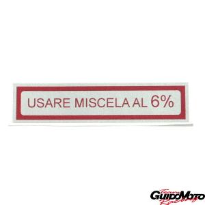 Adesivo per Vespa USARE MISCELA AL 6%