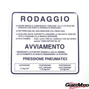 09403 ADESIVO RODAGGIO 2% BLU VESPA PIAGGIO