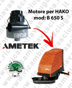 B 650 S MOTORE LAMB AMETEK di aspirazione per lavapavimenti HAKO