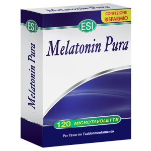 PURE MELATONIN 120 MICROTAVOLETTE USEFUL to DECREASE the TIME IT TAKES to FALL ASLEEP
