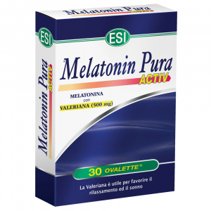 PURE MELATONIN ACTIV: FOOD SUPPLEMENT WITH MELATONIN WITH VALERIAN-FOR REDUCING SLEEP ONSET