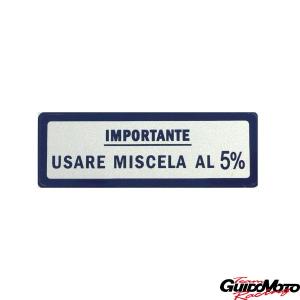 Adesivo per Vespa USARE MISCELA AL 5%
