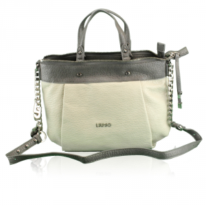 Hand and shoulder bag Liu Jo MOSQUITO A66016 E0058 GREY+ACCIAIO