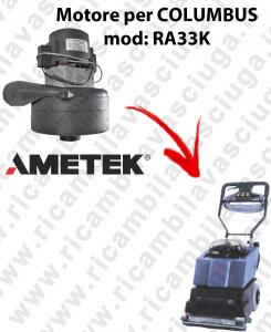 Motore AMETEK di aspirazione per Lavapavimenti COLUMBUS RA33K