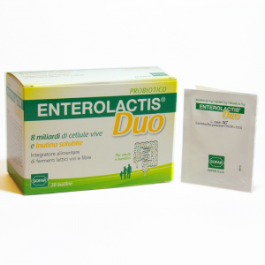 ENTEROLACTIS DUO DUST 20BUSTE food supplement with LIVE MILK ENZYMES and fiber