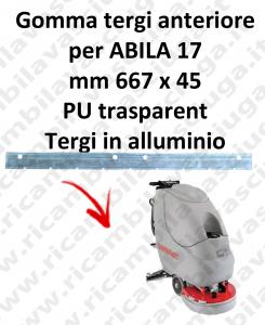 Gomma tergipavimento anteriore per lavapavimenti COMAC ABILA 17
