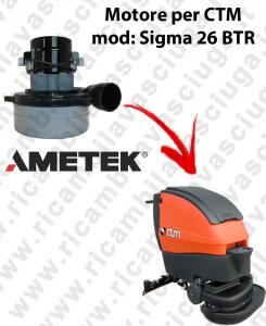 Motore Lamb Ametek di aspirazione per lavapavimenti CTM SIGMA 26 BTR