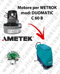 DUOMATIC C 60 B MOTORE LAMB AMETEK di aspirazione per lavapavimenti WETROK