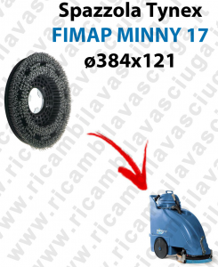 SPAZZOLA TYNEX  per lavapavimenti FIMAP MINNY 17. Modello: tynex  ø384 X 121