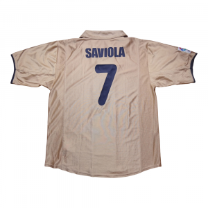 2001-03 Barcelona Maglia Away #7 Saviola XL