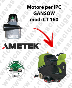 CT 160 MOTORE LAMB AMETEK di aspirazione per lavapavimenti IPC GANSOW