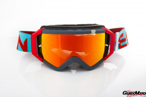 Maschera DIRT GOOGLES ZeroCinque TOP MX0539 per fuoristrada. Azzurro/Rosso
