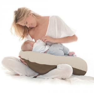 Cuscino allattamento Kikka sfoderabile Azzurro/Avorio related image