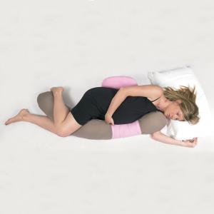 Cuscino gravidanza e allattamento multiuso Polly Beige/Azzurro related image