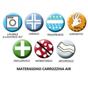Materassino carrozzina traspirante per Formula Jané più un lenzuolino con asole  related image