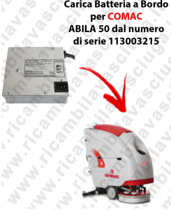 Caricabatteria a Bordo per lavapavimenti COMAC ABILA 50 dal numero di serie 113003215-2-2