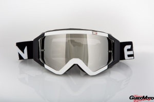 Maschera DIRT GOOGLES 05 MX0529 per Sport fuoristrada. Bianco/Nero