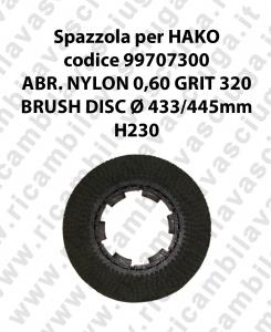 SPAZZOLA LAVARE  per lavapavimenti HAKO codice 99707300