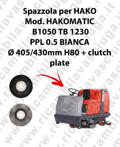 SPAZZOLA LAVARE  per lavapavimenti HAKO modello HAKOMATIC B1050 TB1230
