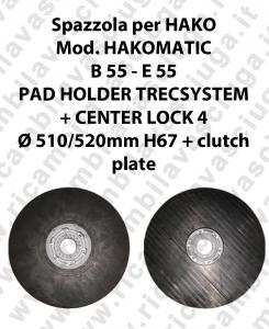 PAD HOLDER TRECSYSTEM  per lavapavimenti HAKO modello HAKOMATIC B 55 - E 55