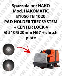 PAD HOLDER TRECSYSTEM  per lavapavimenti HAKO modello HAKOMATIC B1050 TB 1020