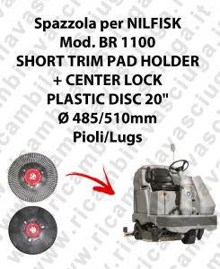 SHORT TRIM PAD HOLDER + CENTERLOCK per lavapavimenti NILFISK mod. BR 1100