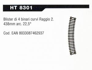 CONF. 4 BINARI CURVI HT8301 LIMA NEW