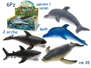ANIMALE ACQUATICO SOFT DISPLAY  (6) 72400 TEOREMA