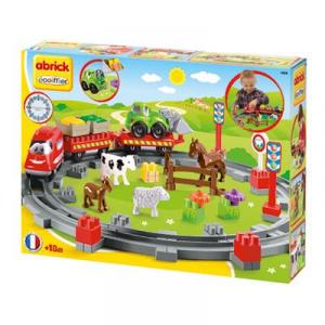Abrick Treno Country, con un veicolo e 4 animali 7600003068 SIMBA NEW