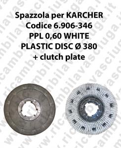 Spazzola lavare PPL 0.6 WHITE per lavapavimenti KARCHER codice 6.906-346