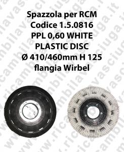 Spazzola lavare PPL 0.6 WHITE per lavapavimenti RCM codice 1.5.0816