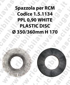 Spazzola lavare PPL 0.6 WHITE per lavapavimenti RCM codice 1.5.1134