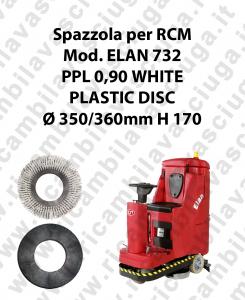Spazzola lavare PPL 0.6 WHITE per lavapavimenti RCM modello ELAN 732