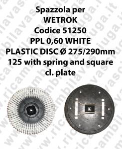 Spazzola lavare PPL 0,60 WHITE per lavapavimenti WETROK codice 51250