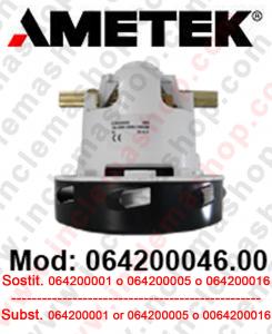 Motore aspirazione AMETEK 064200046.00 per lavapavimenti e aspirapolvere. Sostituisce il  064200001 o 064200005 o 064200016