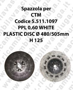 Spazzola lavare PPL 0,60 WHITE per lavapavimenti CTM codice 5.511.1097