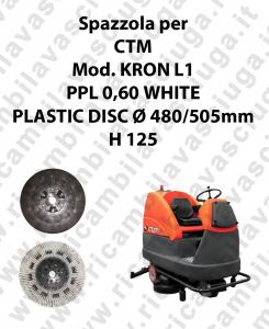 Spazzola lavare PPL 0,60 WHITE per lavapavimenti CTM modello KRON L1