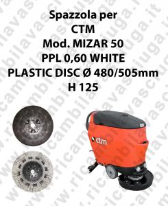 Spazzola lavare PPL 0,60 WHITE per lavapavimenti CTM modello MIZAR 50