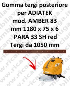 GOMMA TERGI posteriore per lavapavimenti AMBER 83 ADIATEK (tergi da 1050 mm)