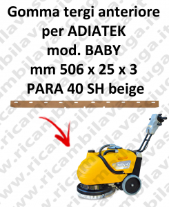 BABY GOMMA TERGI anteriore per tergipavimento ADIATEK