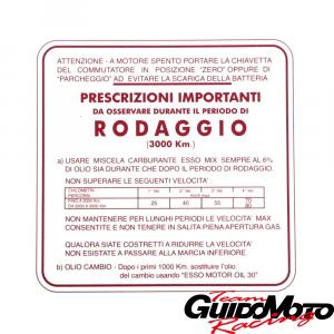 0940611 ADESIVO PER VESPA RODAGGIO 6% ROSSO 4 MARCE PIAGGIO