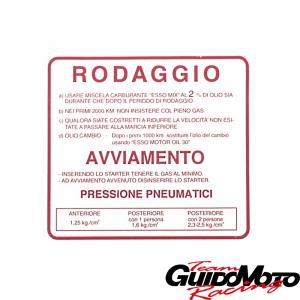 09404 ADESIVO PER VESPA RODAGGIO 2%  ROSSO PIAGGIO