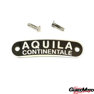 Targhetta marrone -AQUILA- per sella Vespa e moto GMV0098