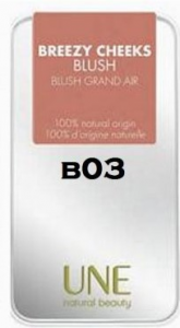 UNE-BLUSH BREEZY CHEEKS COLORE B03