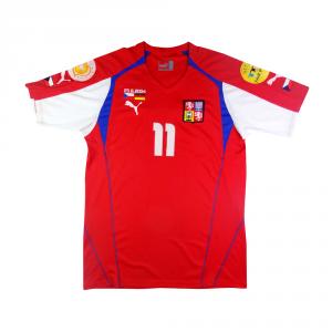 2004 Repubblica Ceca Maglia Home vs Germania Nedved #11 XL (Top)