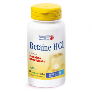 LONGLIFE BETAINE HCI - INTEGRATORE PER METABOLISMO DELL'OMOCISTEINA