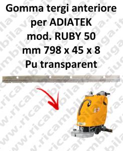 RUBY 50 - GOMMA TERGI anteriore per lavapavimenti ADIATEK