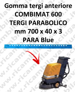COMBIMAT 600 - GOMMA TERGI anteriore per lavapavimenti TASKI