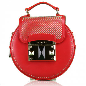 Hand and shoulder bag Cromia IT PUNKY 1403258 ROSSO